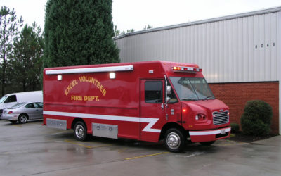 Fire Department Vehicle – 18′ Freightliner MT45